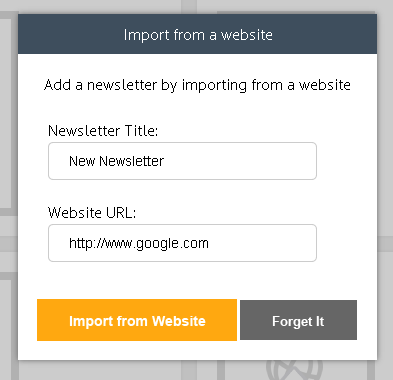 Import a Newsletter from a Website 3