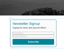 Adding a Newsletter signup form to Weebly 4